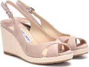 Amely 80 Suede Wedge Sandals