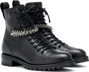 Cruz Flat Leather Ankle Boots