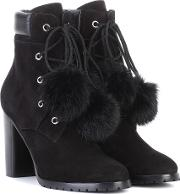 Elba 95 Fur Lined Suede Boots