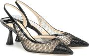 Fetto 65 Mesh And Leather Pumps