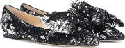 Gilly Sequined Ballet Flats