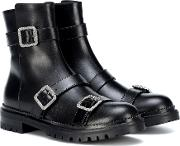Hank Flat Leather Ankle Boots