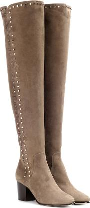 Harlem 65 Suede Over The Knee Boots