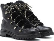 Hillary Flat Leather Ankle Boots