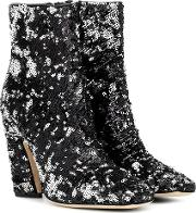 Mirren 100 Sequinned Ankle Boots