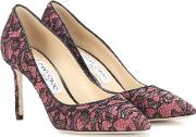Romy 85 Leather And Lace Pumps