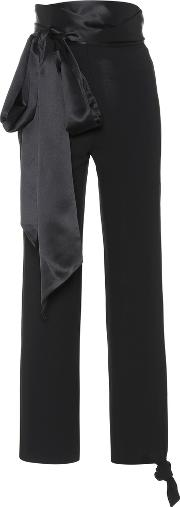Satin Trimmed Trousers