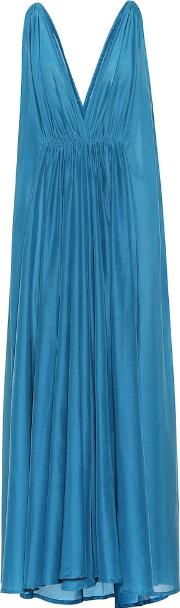 Clemence Cotton And Silk Maxi Dress