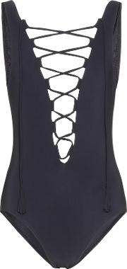 Entwined Lace Up Swimsuit