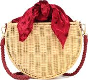 Exclusive To Mytheresa Dylan Velvet And Straw Tote