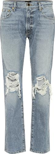 The Kyle Low Rise Distressed Jeans