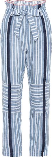 Kosi Striped Cotton Trousers