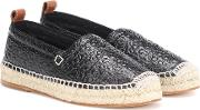 Embossed Leather Espadrilles
