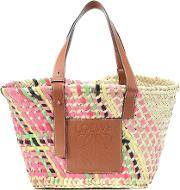 Exclusive To Mytheresa Leather Trimmed Basket Tote