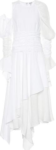 Gathered Cotton And Linen Dress