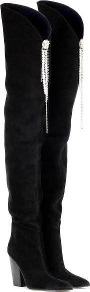 Denmark Suede Over The Knee Boots