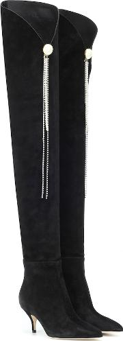 Portugal Suede Over The Knee Boots