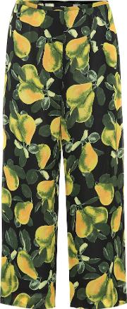 Pear Cropped Crepe Pants