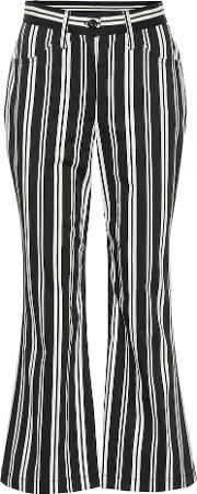 Striped High Waisted Cropped Pants