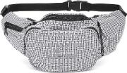 Houndstooth Cotton Belt Bag