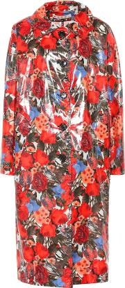 Coated Floral Cotton Coat
