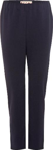 Crepe Cropped Trousers