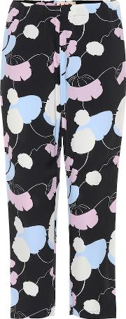 Printed Crepe Trousers