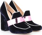 Athos Velvet Loafer Pumps
