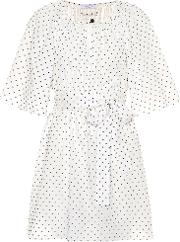 Moonstone Embroidered Cotton Dress
