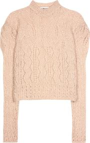 Mohair Blend Knitted Sweater