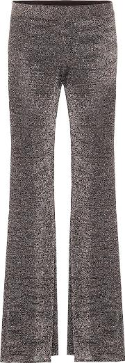 Flared Stretch Knit Pants