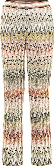Knitted Wool Blend Trousers
