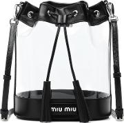 Leather Trimmed Pvc Bucket Bag