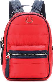 Georgette Leather Trimmed Backpack