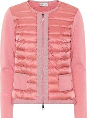 Quilted Down Cardigan