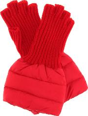Quilted Wool Trim Gloves