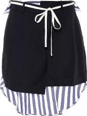 Stretch Wool And Cotton Miniskirt