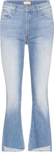 The Insider Crop Fray Distressed Jeans