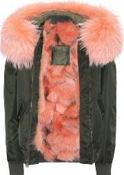 Fur Trimmed Bomber Jacket