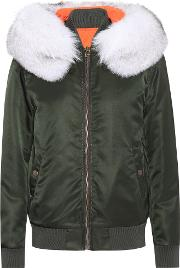 New York Fur Trimmed Bomber Jacket