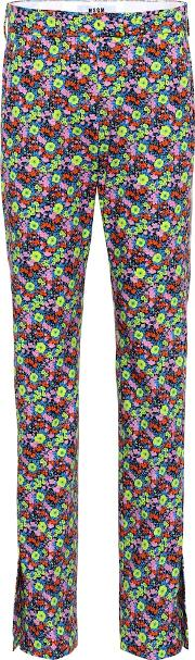Floral Printed Cotton Trousers