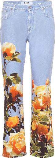 Mid Rise Printed Jeans