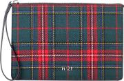 Plaid Wool Clutch