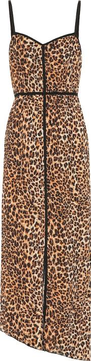 Abir Leopard Printed Slip Dress