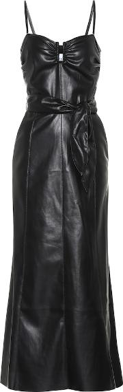 Anja Strapless Faux Leather Dress
