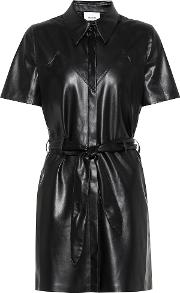 Roberta Faux Leather Minidress
