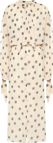 Zahara Polka Dot Chiffon Dress