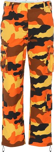 Camouflage Cotton Wide Leg Pants