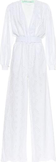 Embroidered Cotton Jumpsuit