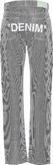 Printed Striped Jeans